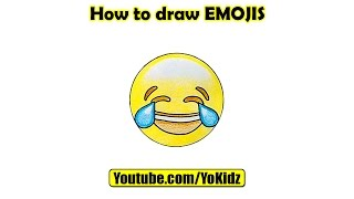How to draw laughing crying EMOJI