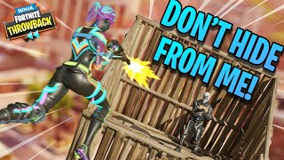 HE REALLY DIDN'T WANT TO LOSE!!! - Fortnite Throwback!