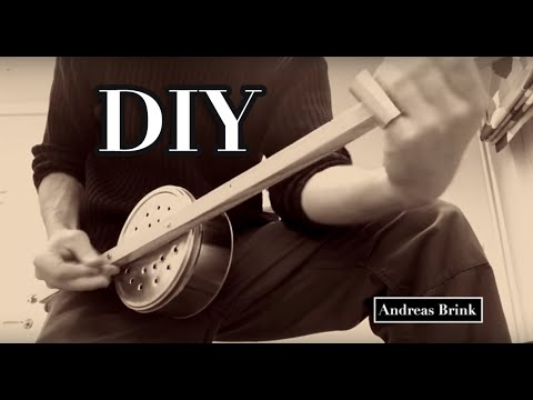 Slide blues guitar on a one string DIY diddley bow