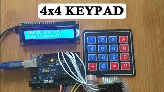 How to use a 4x4 membrane keypad with Arduino.