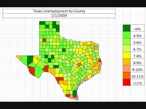 Map: Texas Unemployment October 2013