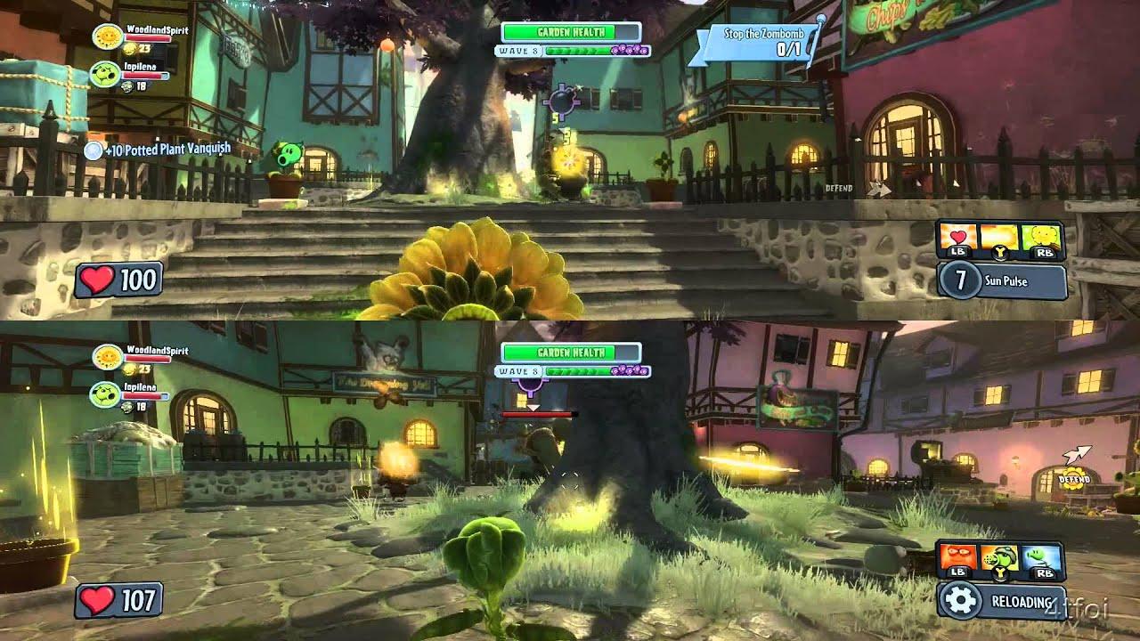 We Play Plants Vs Zombies Garden Warfare Split Screen On Port Scallywag Waves 6 10 Youtube