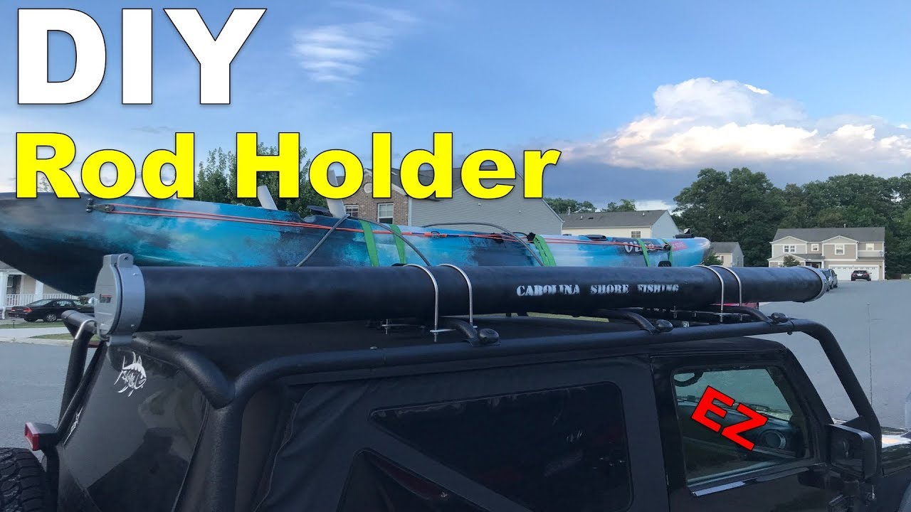 Diy Roof Rack Rod Holder Youtube