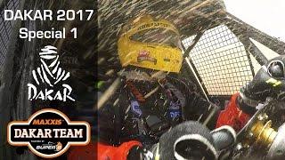 Dakar podium, stage 1, splashing! Coronel first stage of the Dakar 2017 rally