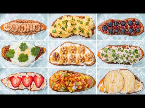 Sweet Potato Toast 9 Ways