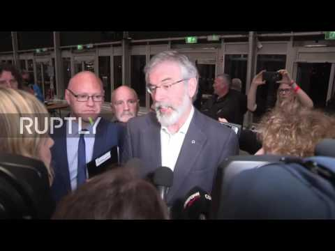 UK: Sinn Fein will not take up seats in Westminster - Gerry Adams