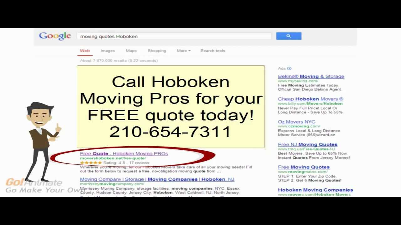 Moving Company Quotes Moving Quotes Hoboken  Affordable Rates 2106547311  Movers