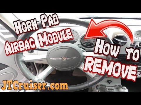 PT Cruiser HORN PAD AIR BAG MODULE Removal (easy)
