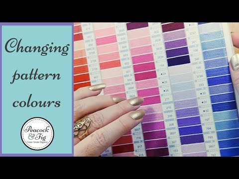 Changing Colours In Embroidery And Cross Stitch Patterns