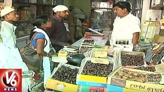 Ramzan Special | Demand For Dry Fruits Shoot Up In Hyderabad | V6 News