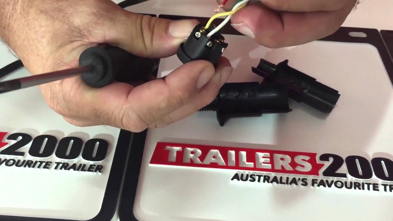 How To Wire A 7pin Round Trailer Plug Youtube Wiring Diagram With Breakaway Switch