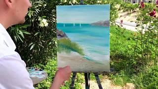 Бонус Урок Рисуем море Пляж