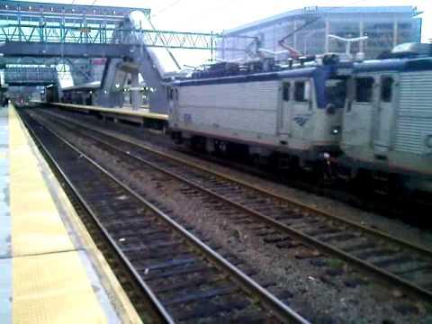 Penn Station Bound NorthEast Regional Pulls into Stamford