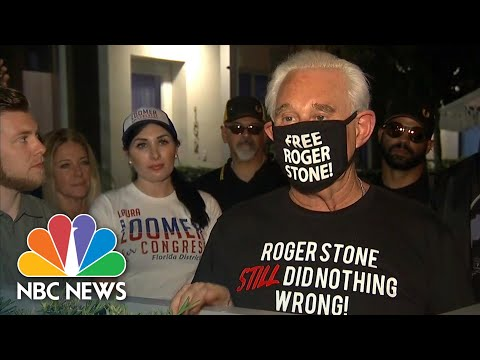 'Elated' Roger Stone Thanks Trump For Commuting Prison Sentence | NBC News NOW