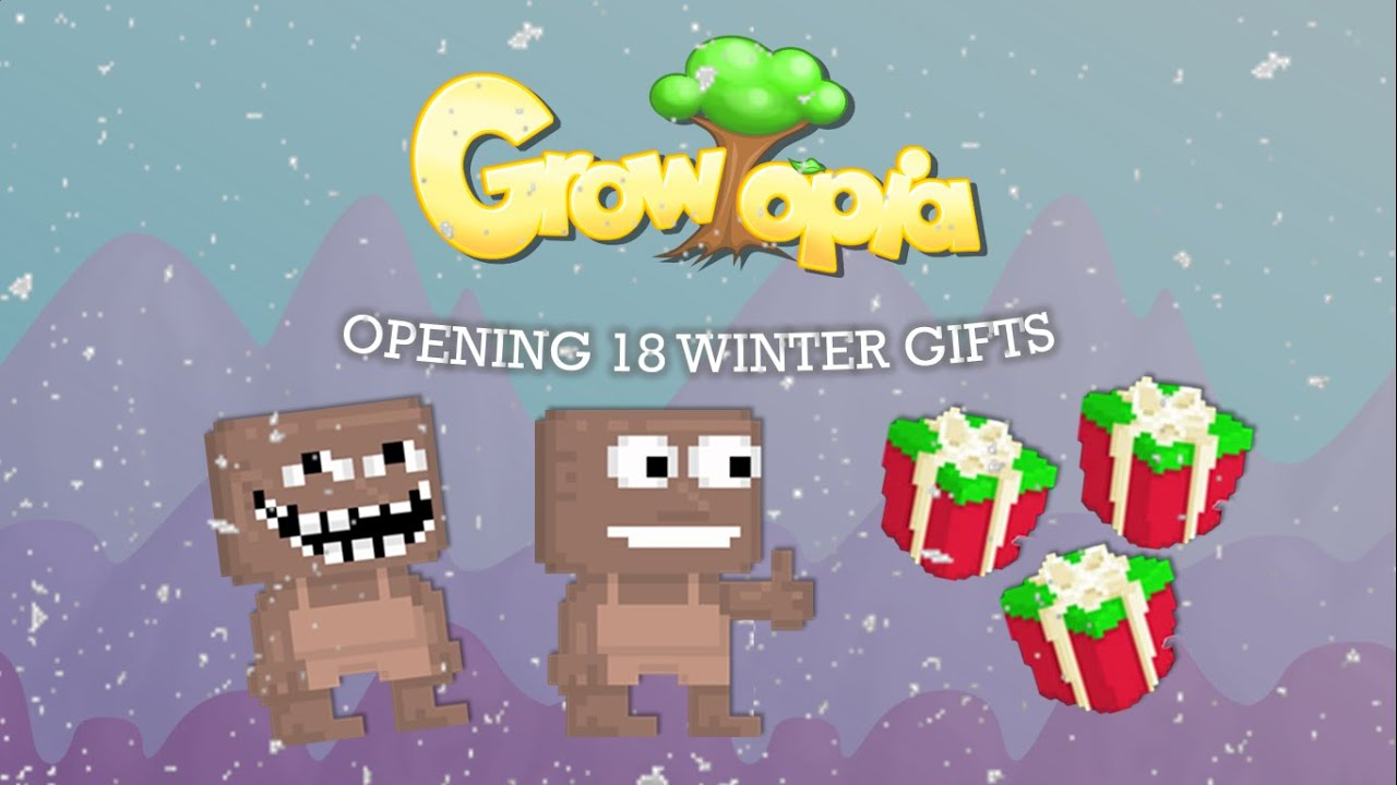 growtopia opening 18 winter gifts youtube. Black Bedroom Furniture Sets. Home Design Ideas