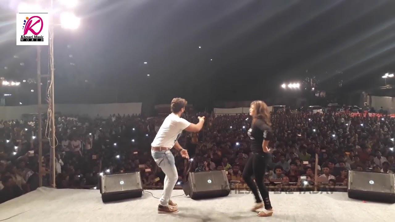 Download निशा जी और खेसारी लाल यादव हॉट डांस। ओठलाली से रोटी बोर के।  Kheari lal Yadav Hit Stage Show 2017