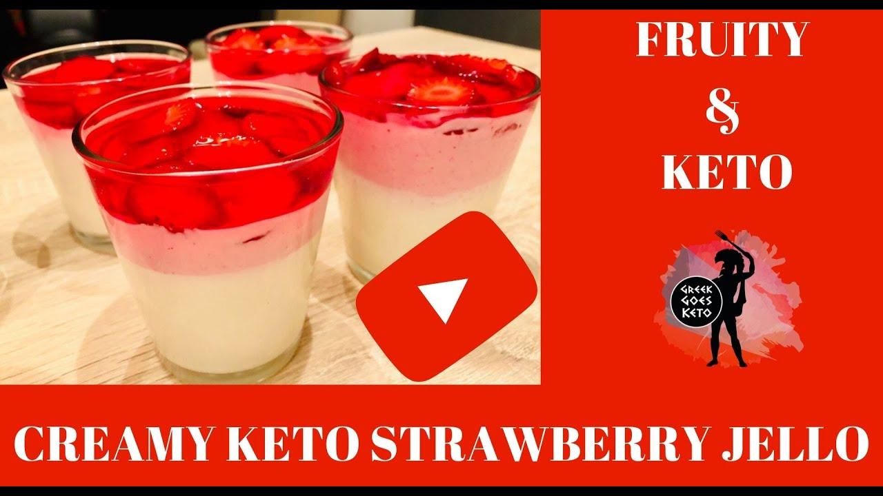 Greek Goes Keto - Creamy Keto Strawberry Jello