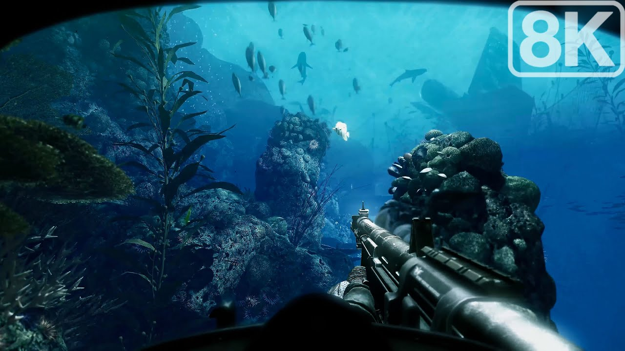 Atlantic Ocean / South America (Underwater Operation) Call of Duty Ghosts - 8K