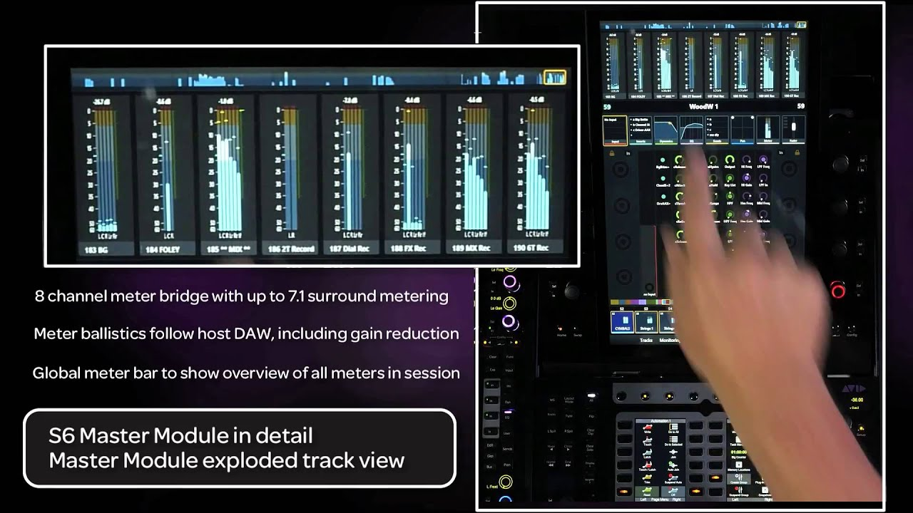 4 Get Started Fast With Avid Pro Tools S6 Master Module In