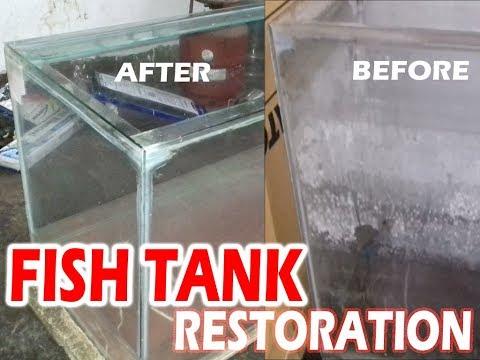 How To Remove Hard Water Stains From Aquarium By Vinegar And Razor / Remove Calcium Build-up