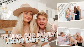 telling our friends & family we are having baby #2!! pregnancy announcement!
