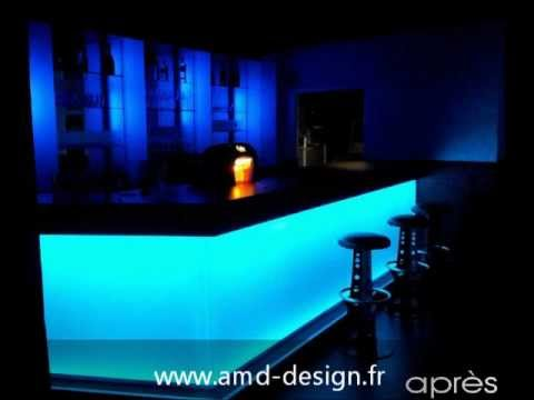 amd design fabricant comptoir bar clair youtube. Black Bedroom Furniture Sets. Home Design Ideas