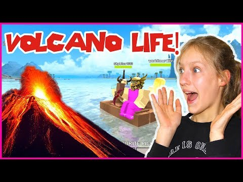 Living on a Volcano! Booga Booga Island Life with Friends