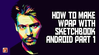 (Timelapse) Make WPAP Art With Sketchbook Android part1