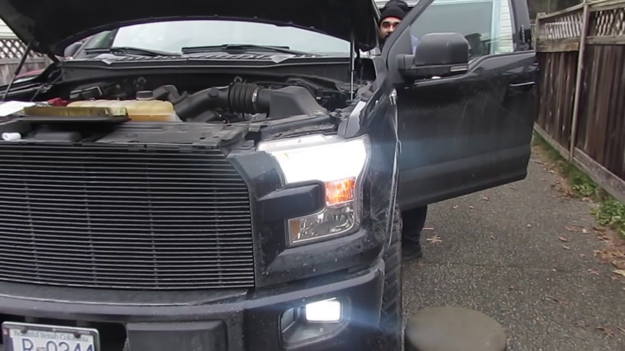 How To 2015 2016 Ford F150 Headlight Bulb Easy Way Youtube