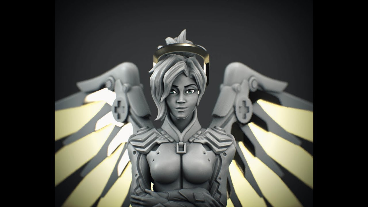 Download Foto Model Overwatch Mercy Speed Sculpt Free Model Download