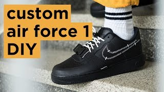 DIY Nike Air Force 1 | How To Customize Your Nikes | Dapper Alien