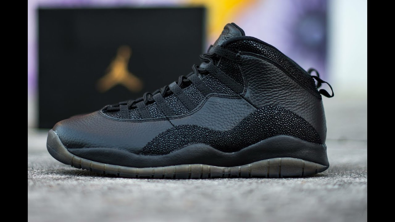 8942bde3df60 Air Jordan 10 OVO Black 2016 Review (Drake) - YouTube