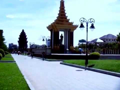 Visiting Around Phnom Penh City and Some historical buildings and statues in the Capital