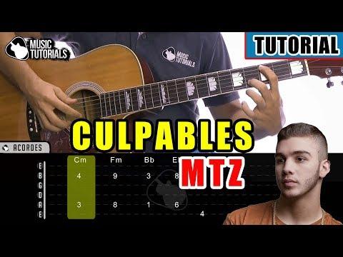 Cómo Tocar Culpables De Manuel Turizo En Guitarra   Tutorial + PDF GRATIS