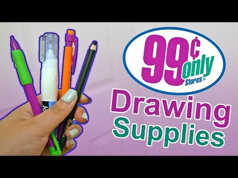 USING ONLY $1 DOLLAR STORE DRAWING SUPPLIES