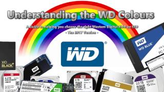 What is the difference between the WD Colours – Blue, Red, Black, Green, Purple, Gold - 2017 Update