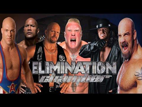 Rock vs Lesnar vs Kurt Angle vs Undertaker vs Goldberg vs Stone Cold WWE Elimination Chamber Match thumbnail