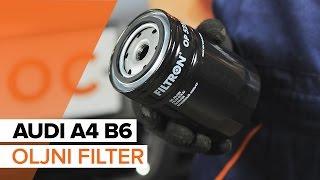 Kako zamenjati motorno olje in oljni filter na AUDI A4 B6 [VODIČ]