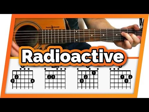Radioactive Guitar Tutorial (Imagine Dragons) Easy Chords Guitar Lesson