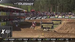 MXGP of Latvia Thomas Kjer Olsen passes Jorge Prado #Motocross