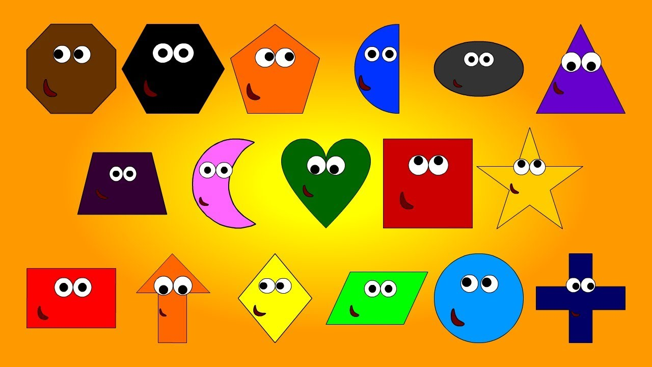 Learn Colours and 2D Geometrical Shapes Fun for Preschoolers Toddlers Kids