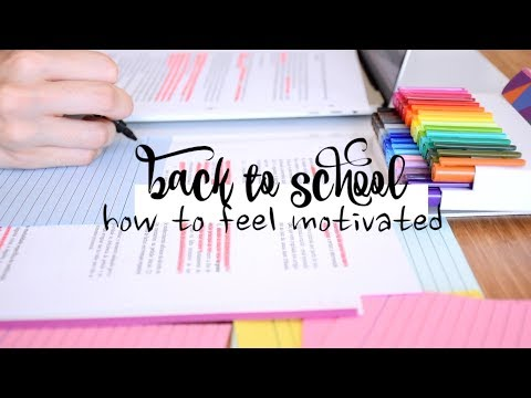 Back to School #11 // How to Stay Motivated for College/School!