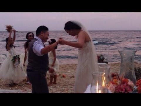 Aiza seguerra liza dino beach wedding january 8 2015 youtube
