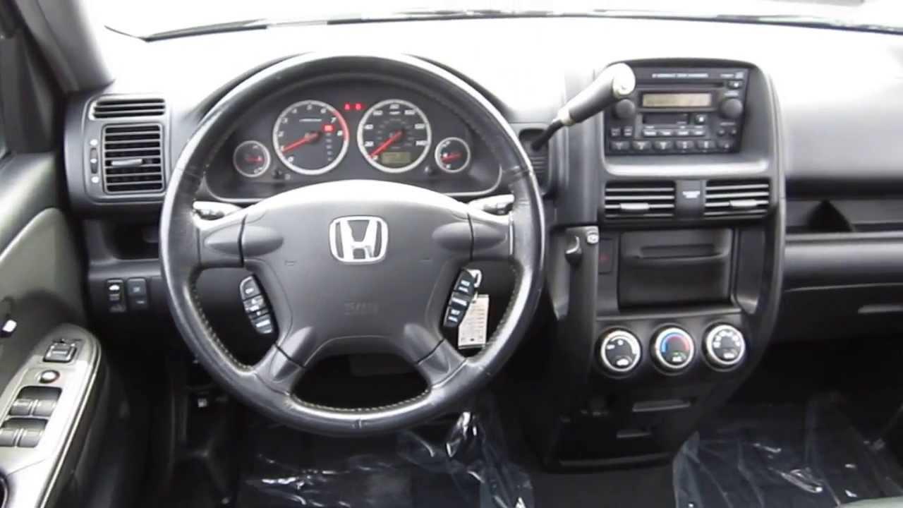 Honda honda cr-v 2005 : 2005 Honda CR-V, Gray - STOCK# 6212A - Interior - YouTube