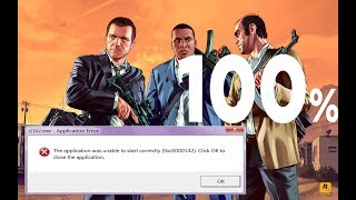 After Install GTA V Version 1.41 Then Error (0xc0000142) How To Slove it