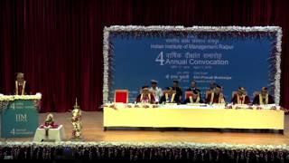 Shri Hari S. Bhartia,chairman, Bog, Iim Raipur At 4th Annual Convocation 2015