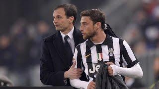 La conferenza stampa di Allegri e Marchisio al Media Day Juventus