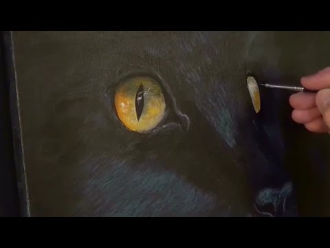 Easy Cat Painting lesson for Beginners Acrylic Painting cliv