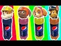 Pepsi Bottle Wrong Heads Paw Patrol ♥ Kids Learn Colors Finger Family Nursery Rhymes Songs