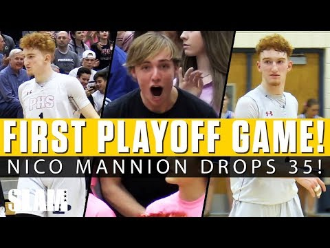 Nico Mannion DROPS 35 in First Playoff Game!! 😱
